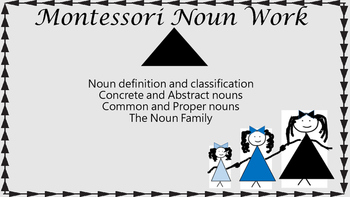 Montessori The Noun Key Experience plural, proper, abstrac