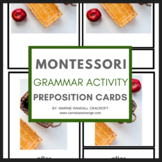 Montessori Grammar Preposition Cards with REAL Images & Labels