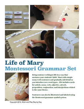 Montessori Grammar Set:  Life of Mary Cards