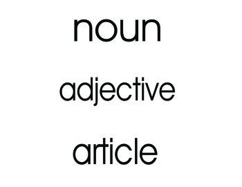 Montessori Grammar Symbol Vocab Cards Level 1