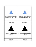 Montessori Grammar Symbols - Three Part Cards