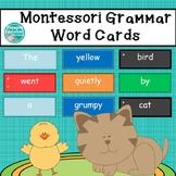 Montessori Grammar Word Cards