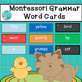 Montessori Grammar Word Cards