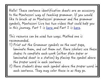 Montessori Grammar Work
