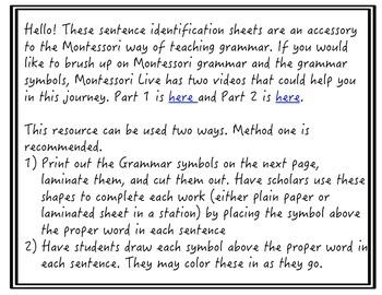 Montessori Grammar Work #2