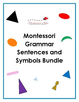 Montessori Grammar sentences and symbols bundle