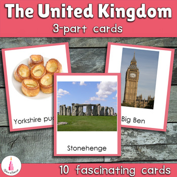 the United Kingdom Montessori 3-part Cards