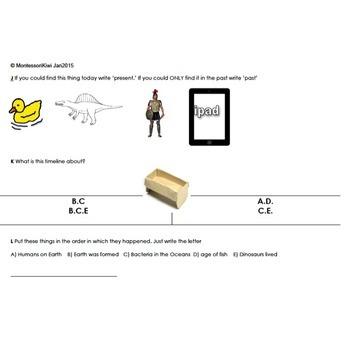 Montessori History Test for assessment