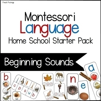 Montessori Home School Beginning Sounds Pack