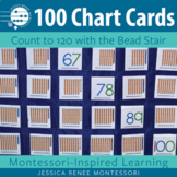 Montessori Hundred Chart Activity Cards with Colored Beads