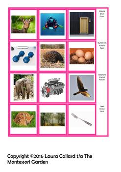 Montessori Initial Letter Picture Cards