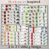 Montessori Initial Sounds Cutting Practice - Alphabet Phon
