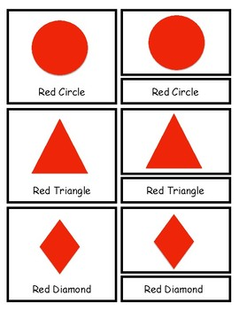 Three Part Cards: Shapes & Colors