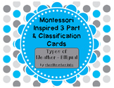 Montessori Inspired 3 Part Cards: Types of Weather - Bilingual Pack