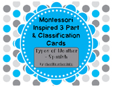 Montessori Inspired 3 Part Classification Cards: Types of