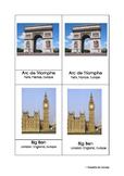 Montessori Inspired 3 part Landmark Cards