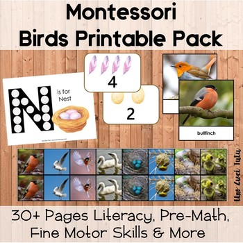 Montessori Bird Printable Pack For Toddlers And Preschoolers
