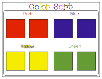 Montessori Inspired Color Sorting with REAL Objects