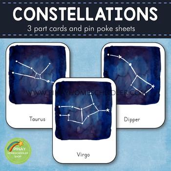Constellations Montessori 3 Part Cards