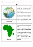 Montessori Inspired Continent Cards and Quick Facts Cards