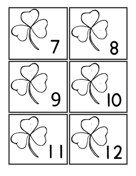 Montessori Counting Cards 1 to 12 Through the Year Themes