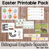 Montessori Inspired Easter Preschool Pack Bilingual Englis