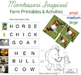 Montessori Farm Theme Printables