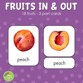 Montessori Inspired Fruits Inside and Outside Matching Cards (NO FRUIT NAMES)