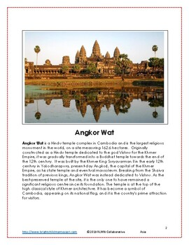 Montessori Inspired Geography Asia Write the Room A to Z 3 part cards