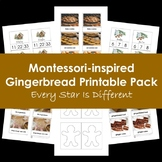 Montessori Inspired Gingerbread Printable Pack