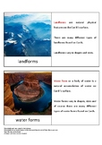 Montessori Inspired Land and Water Form Cards (Primary)