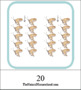 Montessori-Inspired Math Skip Counting 3-Part Cards {10s, 11s and 12s}