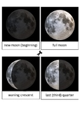Montessori Inspired Moon Phases Learning Cards