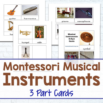 Montessori Musical Instrument 3-Part Cards