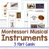 Montessori Musical Instrument 3-Part Cards