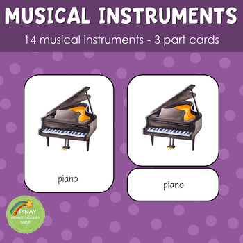 Montessori Inspired Musical Instruments 3 Part Cards