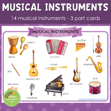 Musical Instruments Montessori 3 Part Cards