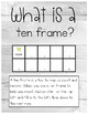 Montessori Inspired Ten Frame Counting Cards with Ten Frame Explanation Chart