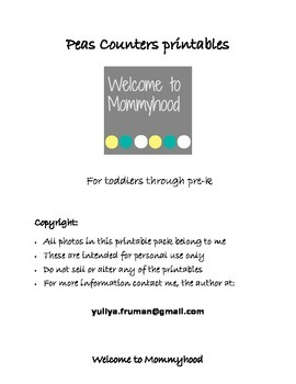 Montessori Inspired Pea Counters for Toddlers and Preschoolers