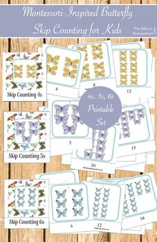 Montessori-Inspired Math Skip Counting 3-Part Cards {4s, 5s and 6s}