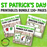 Montessori Inspired St Patricks Day Activities - language and math centers