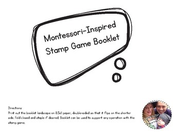Montessori-Inspired Stamp Game Booklet