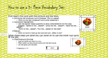 Montessori Inspired Vocabulary 3-piece set, Veggies