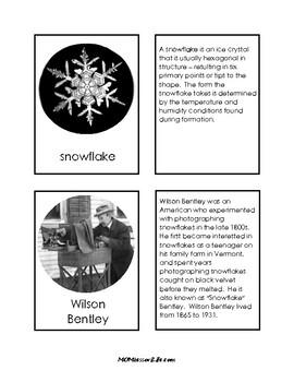 Montessori-Inspired Wilson Bentley's Snowflakes Pack