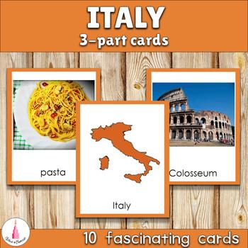 Italy Montessori 3-part Cards