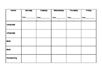 Montessori - Kindergarten Work Plan