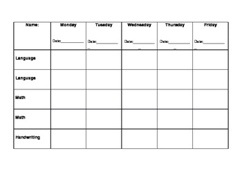 Montessori - Kindergarten Work Plan by Alexandra Wlodkowski | TpT