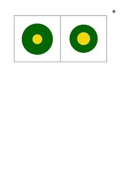 Montessori Sensorial Knobless Cylinders--birds-eye-view-green-yellow