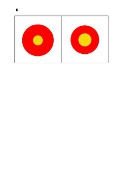 Montessori Sensorial Knobless Cylinders--birds-eye-view-red-yellow