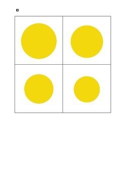 Montessori Sensorial Knobless Cylinders--birds-eye-view-yellow